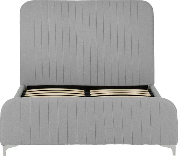Hampshire Double Bed Light Grey